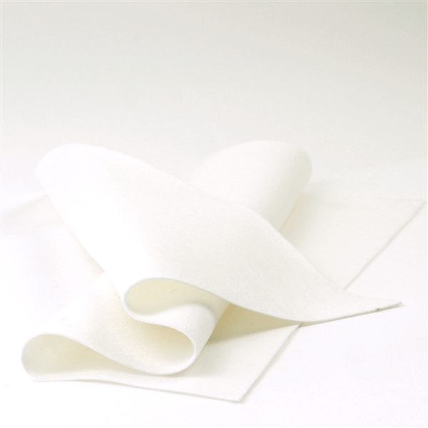 White Wool Felt Sheet