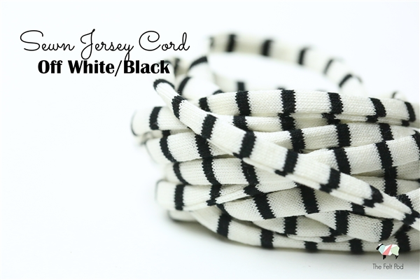 Off White/Black Spaghetti Cord