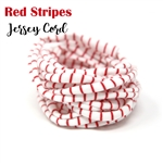 Red Stripe Jersey Cord