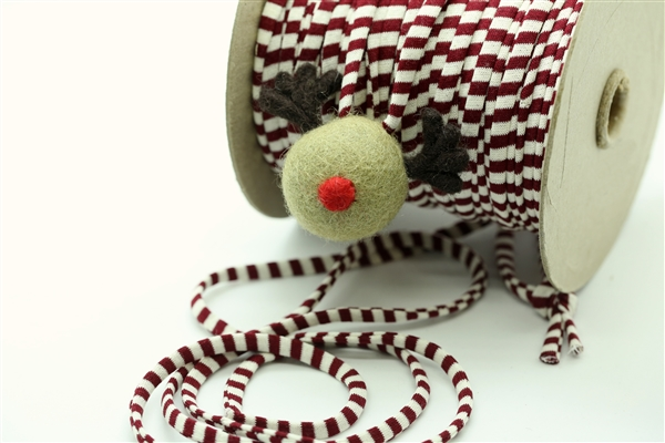 White/Burgundy Spaghetti Cord (Narrow)