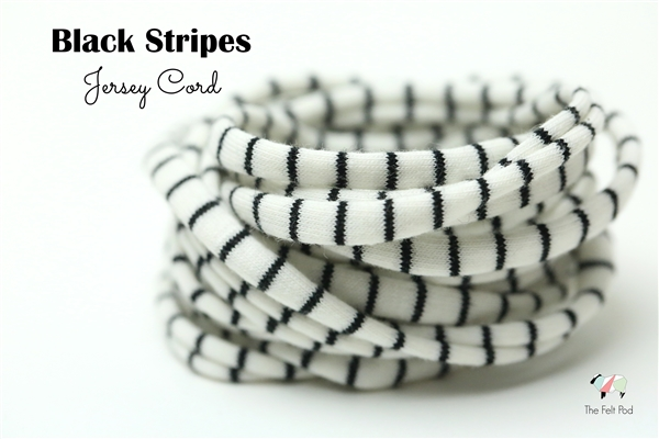 Black Stripe Jersey Cord