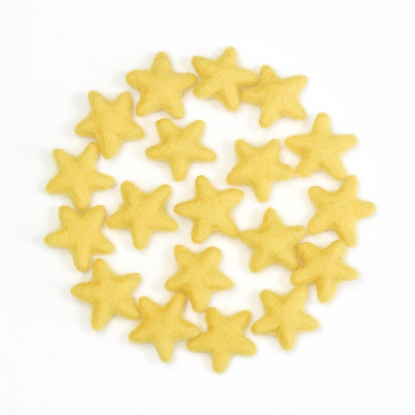 Felt Stars - Canary Yellow