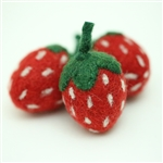 Felt Strawberries - Red/Dk Green