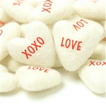 White Conversation Hearts