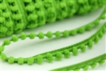 Bright Green Baby Pom Trim