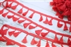 Bright Red Tassel Trim