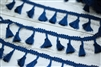 Dark Blue Tassel Trim