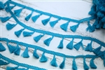 Sea Blue Tassel Trim