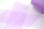 Lilac Glitter Dots Tulle