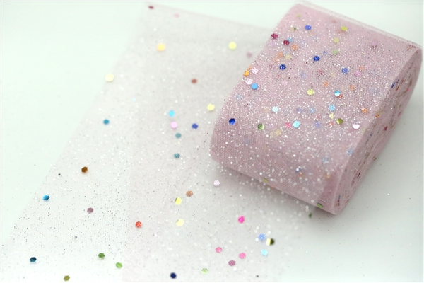 Baby Pink Confetti Tulle