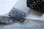 Navy Gold Star Tulle