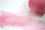 Pink Gold Star Tulle