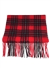 "Officially Licensed Bradley University Tartan Cashmere Scarf.  For men and women in the popular length for knotting around the neck for style and warmth.  Dry Clean Only.  Measures 12"" x 82""."