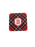 Bradley University Tartan Coaster Set - 4 Pack