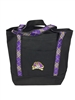 "East Carolina University Tartan 726 Tote $45.95 - Perfect every day  tote for all your stuff.  Measures 18"" x 14"" x 6"".  Exterior pocket with ECU Pirate logo embroidered.  ECU Tartan handles.  Color: Black.  Made in America."
