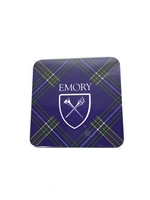 Emory University Tartan Coaster Set - 4 Pack