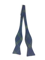 Emory University Tartan Satin Bow Tie