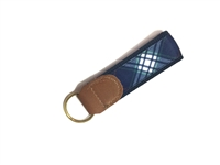 Gonzaga University Tartan Leather Key Fob