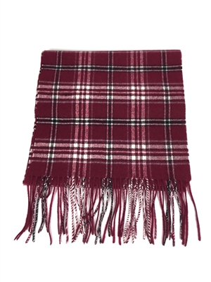 "Officially Licensed Missouri State University Tartan Cashmere Scarf.  Measures 12"" x 78"" plus fringe.  For men and women in the popular length for knotting around the neck for style and warmth.  Dry Clean Only."