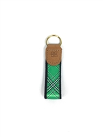 Marshall University Tartan Leather Embossed Key Fob