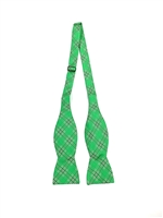 Marshall University Tartan Silk Bow Tie