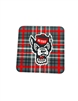 North Carolina State University Tartan Wolf Coaster - 4Pack