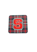 North Carolina State University Tartan Coasters 4-Pack