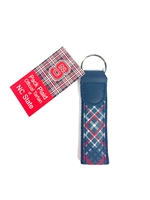 North Carolina State University Tartan Leather Key Fob