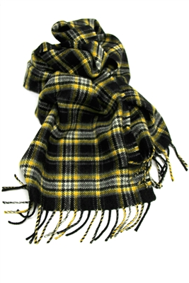 "Officially Licensed Purdue University Tartan Lambswool Scarf.  Measures 78"" x 12"" plus fringe.  For men and women in the popular length for knotting around the neck for style and warmth.  Boilermaker Proud!"