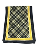 "Officially Licensed University Tartan Luxury Scarf for ladies.  Measures 60"" x 11 3/4"".  Dry Clean.  Show your Boilermaker Pride at the office, church, reunions, game day or any occasion you desire! Black and Gold."