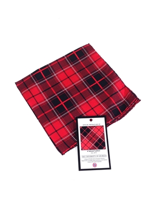 University of Georgia Tartan Silk Pocket Square