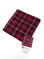 University of South Carolina Tartan Silk Pocket Square