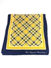 West Virginia University Tartan Silk Scarf