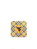 West Virginia University Tartan Coasters 4-Pack
