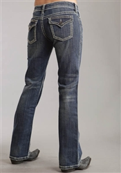 STETSON LADIES JEAN CONTRAST STITCHING DARK WASH