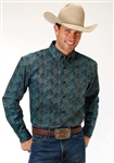 Men's Long Sleeve Button Down Blue Jay