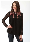 Ladies Chiffon Dobby Blouse