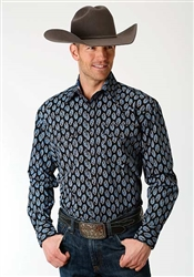 Men's Long Sleeve Button Down Formation Paisley
