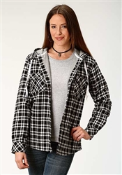 Ladies Flanel Snap Jacket