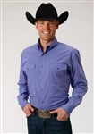 Men's Amarillo Long Sleeve Shirt Woven Blue