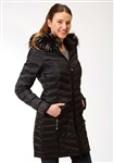 Ladies Long Light Weight Parachute Nylon Jacket