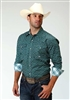 Men's Long Sleeve Button Down Slate Foulard