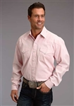 Stetson End On End Solid Pink Shirt