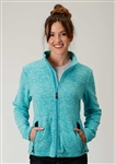 Ladies Turquoise Mico Fleece Jacket