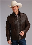 Stetson Men's Dark Brown Leather Jacket
