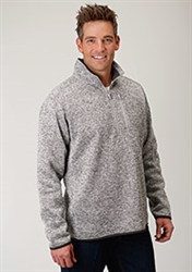 Mens Pullover Bonded Knit Sweater