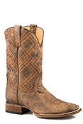 Roper Mens Vintage Brown Cowboy Boot