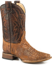 Roper Men's Tan Caiman Square Toe Boot