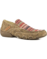 Women's Roper Tan Daisy Driving Moc