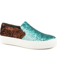 Women's Roper Sparkly Turquoise Slip On